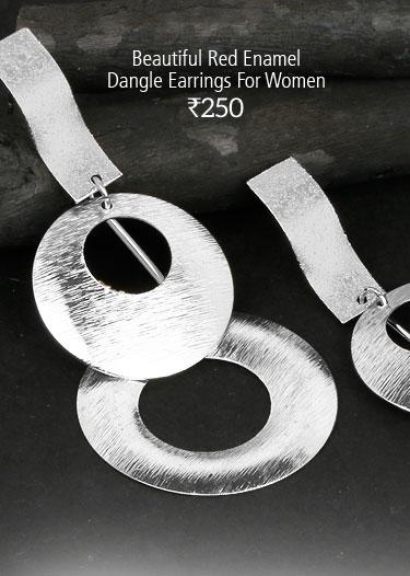 Silver Tone Alloy Dangle Earrings For Women